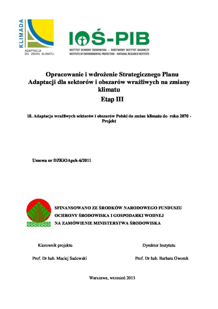 Strategicznym Planem Adaptacji do Zmian Klimatu