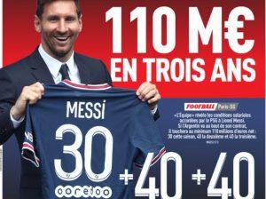 Leo Messi - szczegóły kontraktu zPSG wL'Equipe